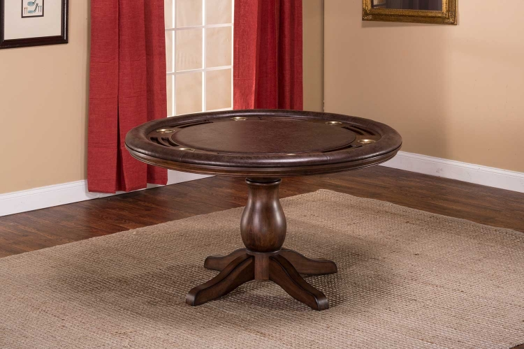 Chiswick Game Table   Brown Cherry