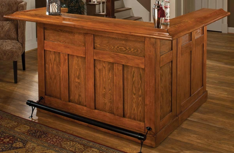 Classic Oak Large Bar with Side