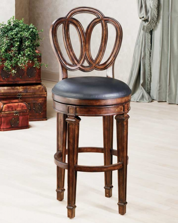 Dover Bar Stool with Leather Seat