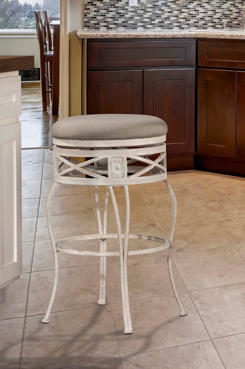 Callen Indoor/Outdoor Swivel Counter Stool - Whitewash