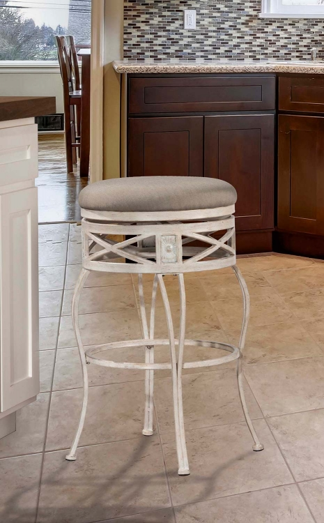 Callen Indoor/Outdoor Swivel Bar Stool - Whitewash