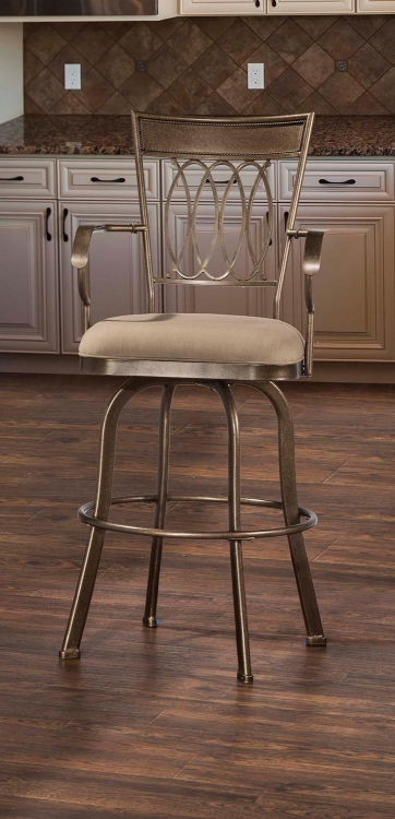Delk Indoor/Outdoor Swivel Bar Stool - Gold Bronze