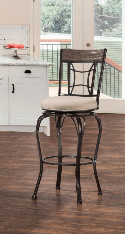 Hillsdale Wilshire Non Swivel Counter Stool Antique