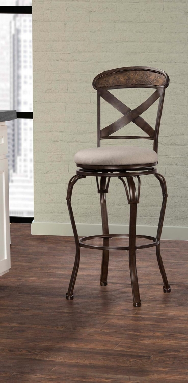 Kinsley Indoor/Outdoor Swivel Bar Stool - Rubbed Bronze
