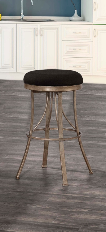 Bishop Indoor/Outdoor Backless Swivel Counter Stool - Champagne