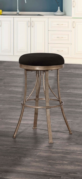 Bishop Indoor/Outdoor Backless Swivel Bar Stool - Champagne
