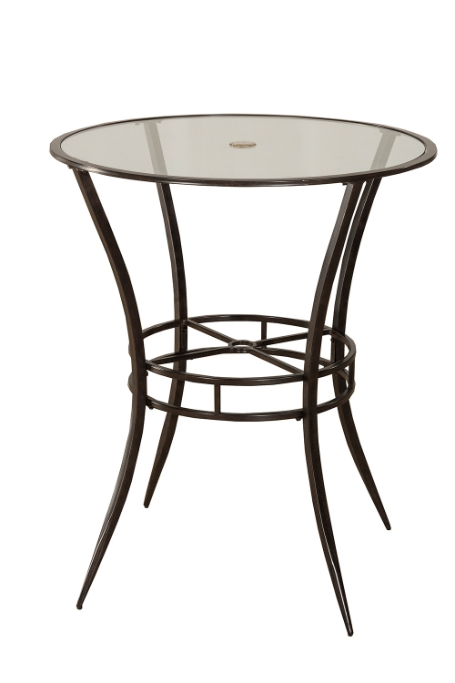 6323PTB Indoor/Outdoor Bar Height Bistro Table - Antique Black