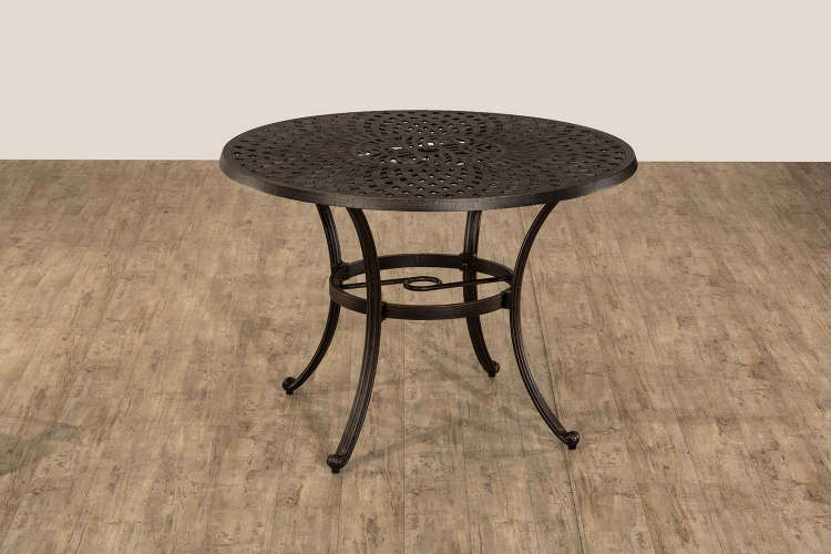 Esterton Indoor/Outdoor Round Dining Table - Black/Gold