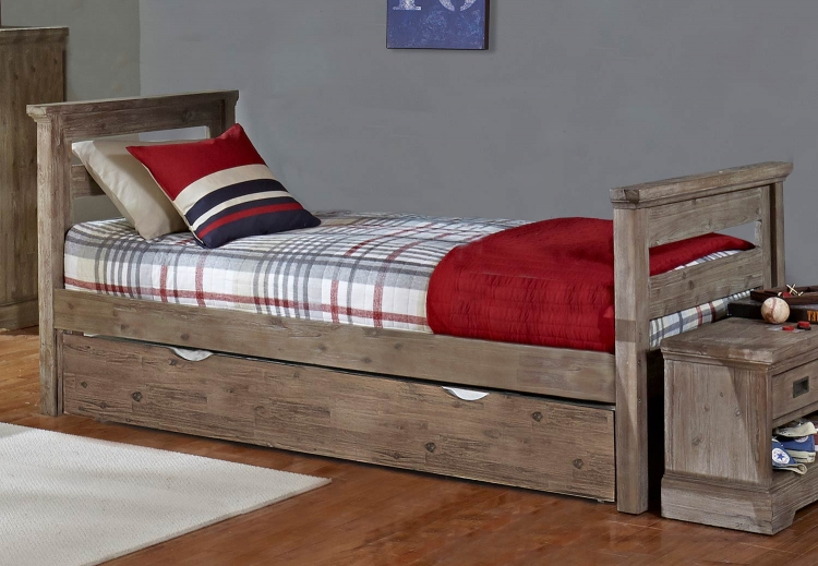 Oxford Oliver Twin Bed With Trundle - Cocoa