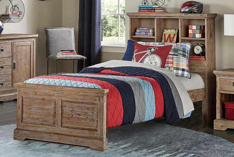 Oxford Bookcase Bed - Cocoa