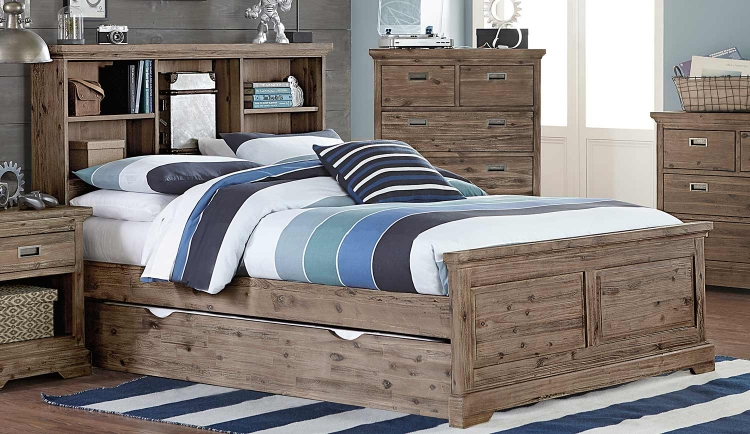 Oxford Bookcase Bed With Trundle - Cocoa