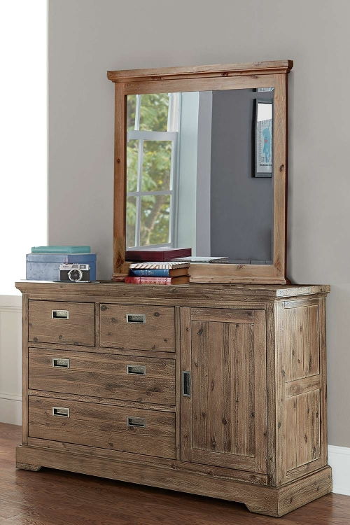 Oxford 4 Drawer Dresser with Door and Mirror - Cocoa