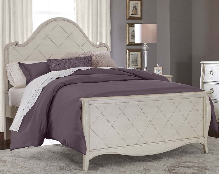 Angela Arc Panel Bed - Opal Grey