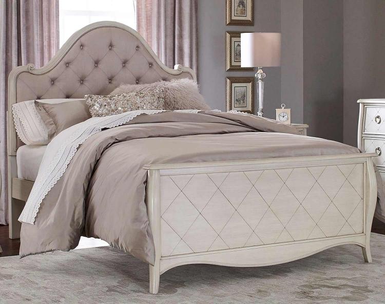 Angela Arc Upholstered Bed - Opal Grey