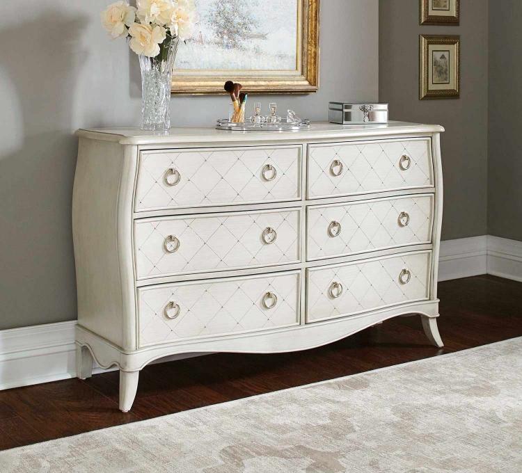 Angela 6 Drawer Dresser - Opal Grey