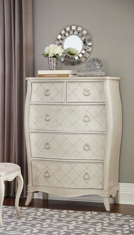 Angela 5 Drawer Chest - Opal Grey