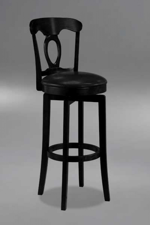 Hillsdale Venus Backless Swivel Bar Stool With Bear Suede