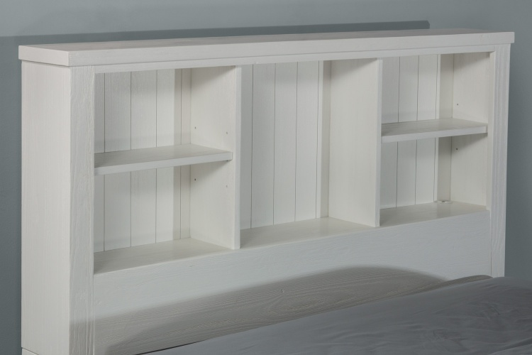 Highlands Bookcase Headboard - White