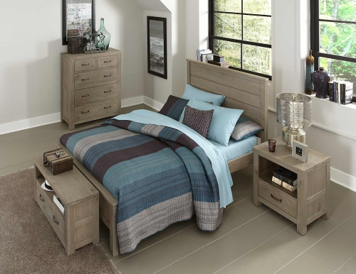 Highlands Alex Panel Bedroom Set - Driftwood