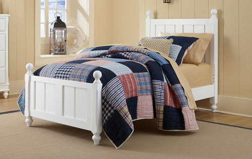 Lake House Kennedy Panel Bed - White