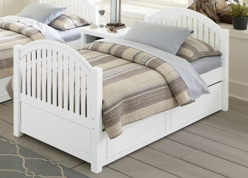 Lake House Adrian Twin Bed With Trundle - White