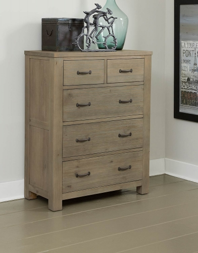 Highlands 5 Drawer Chest - Driftwood