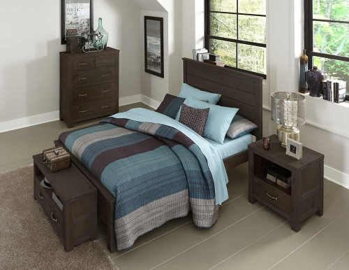 Highlands Alex Panel Bedroom Set - Espresso