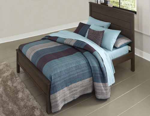 Highlands Alex Panel Bed - Espresso