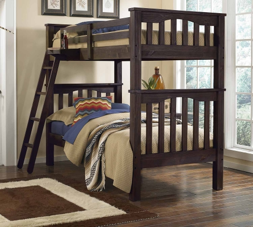 Highlands Harper Twin Over Twin Bunk - Espresso