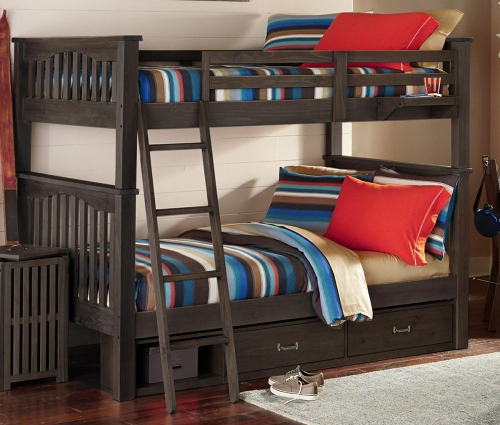 Highlands Harper Full Over Full Bunk With Storage - Espresso