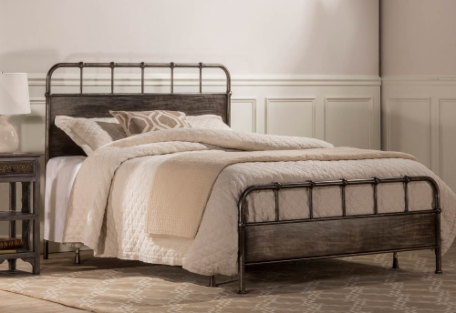Grayson Bed - Rubbed Black