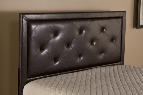 Becker Headboard - Brown Faux Leather