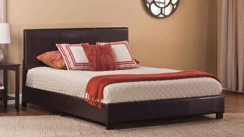 Hayden Bed - Brown Leatherete