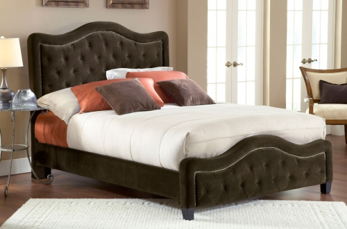 Trieste Tufted Upholstered Bed - Chocolate