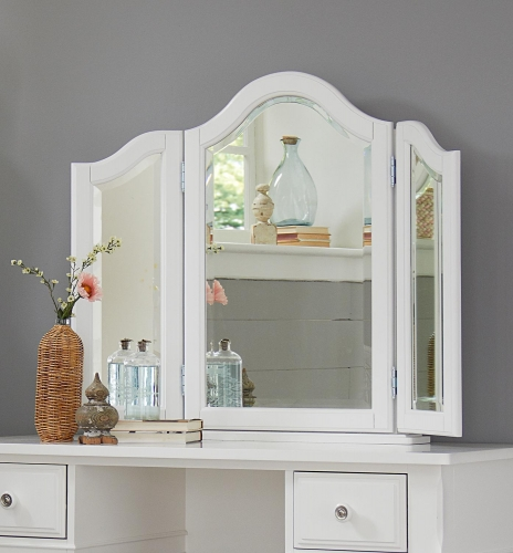 Lake House Vanity Jewelry Mirror - White