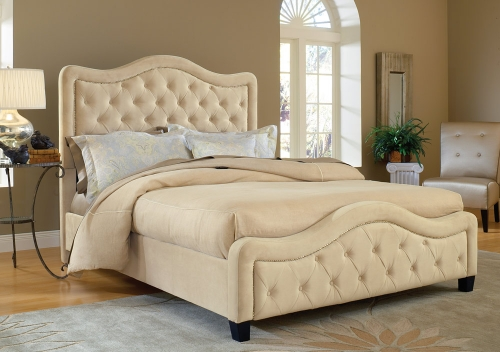 Trieste Tufted Upholstered Bed - Buckwheat