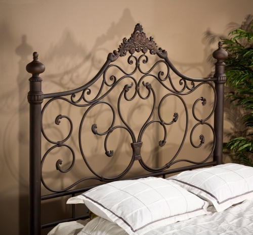 Baremore Metal Headboard - Antique Brown
