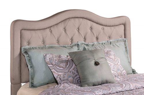 Trieste Tufted Upholstered Headboard - Dove Gray Linen