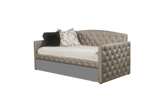 Memphis Daybed - Diva Pewter Faux Leather