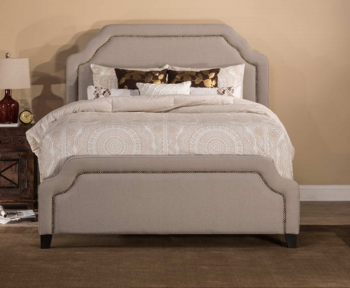 Carlyle Bed - Light Taupe