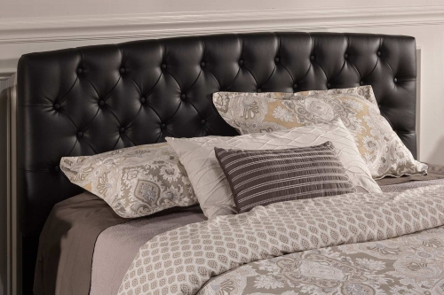 Hawthorne Upholstered Headboard - Black Leatherette