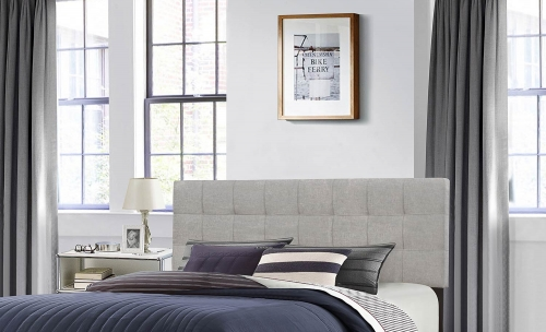 Delaney Headboard - Glacier Gray Fabric