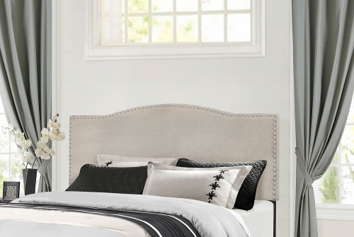 Kiley Headboard - Fog Fabric