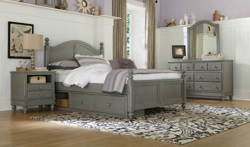 Lake House Payton Arch Bedroom Set With Storage - Stone