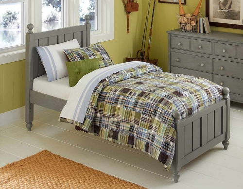 Lake House Kennedy Panel Bed - Stone