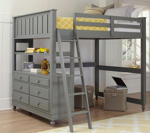 Lake House Loft Bed - Stone