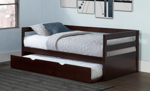 Caspian Daybed With Trundle - Chocolate