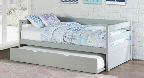 Caspian Daybed With Trundle - Gray