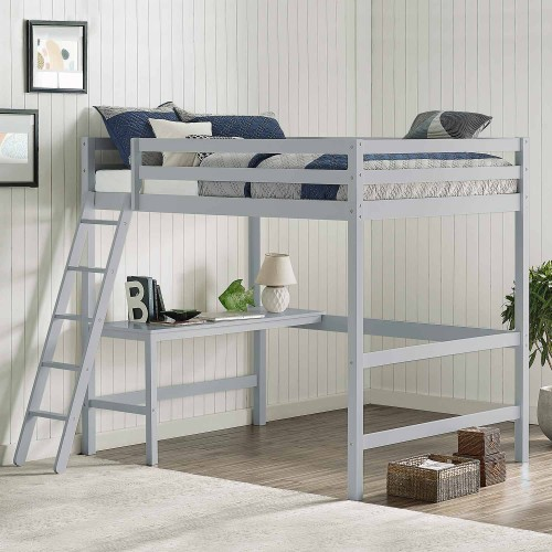 Caspian Full Loft Bed - Gray