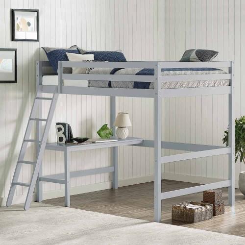 Caspian Full Loft Bed - Gray